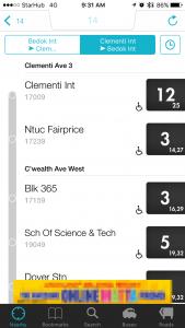 Bus Stop List