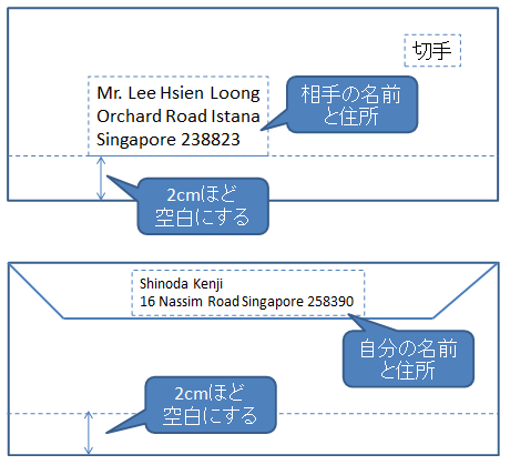 国際 郵便 シンガポール