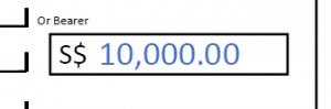 write amount